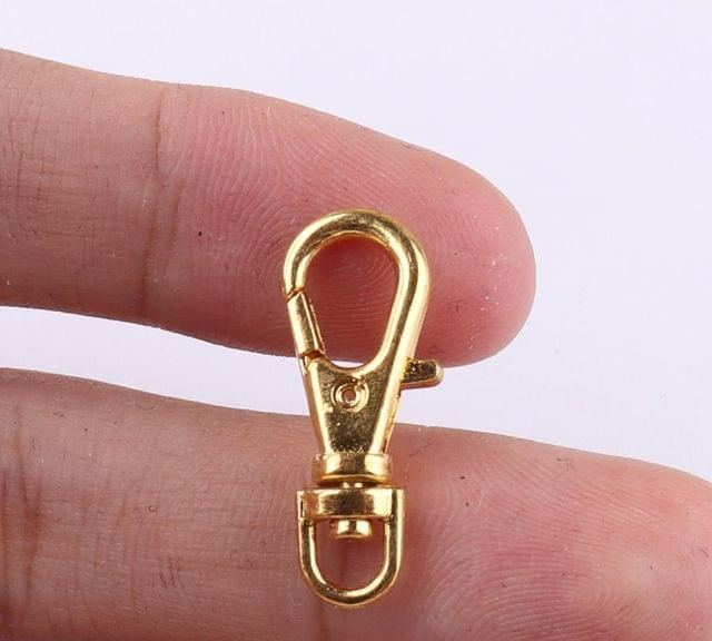 10 Pcs Key Chains and Mask Chain Lobster Clasp Gold 23mm