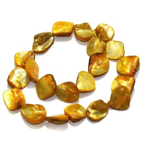 Yellow Shell Beads String 18-22 mm