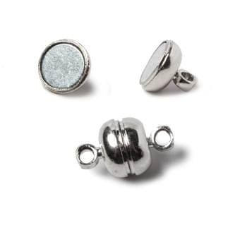 Silver 5 Pcs Magnetic Clasps , Size 7mm