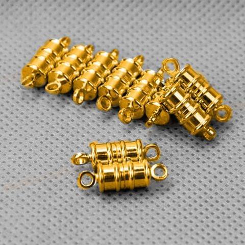 Golden 5 Pcs Magnetic Clasps , Size 12x8mm