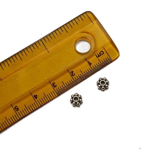 6mm, 40 pcs, German Silver Small Chakri