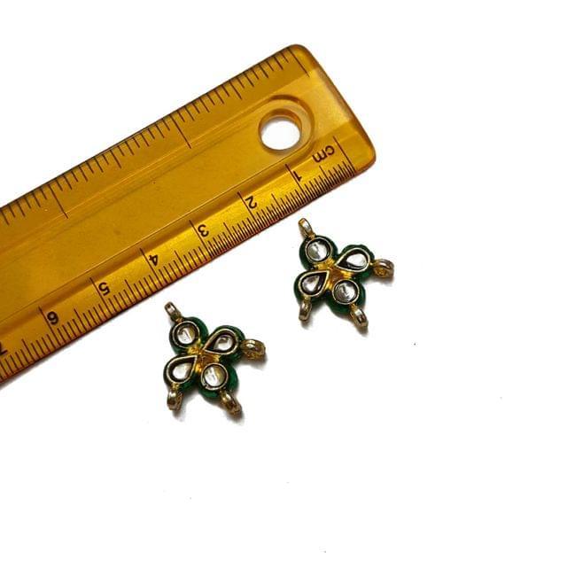 22mm, 2 pcs, Kundan Spacers And Connectors