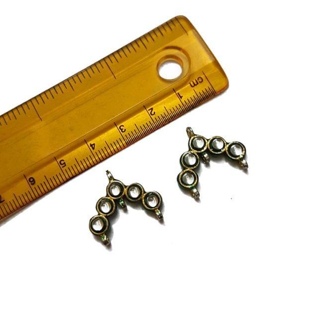 19x22mm, 2 pcs, Kundan Spacers And Connectors