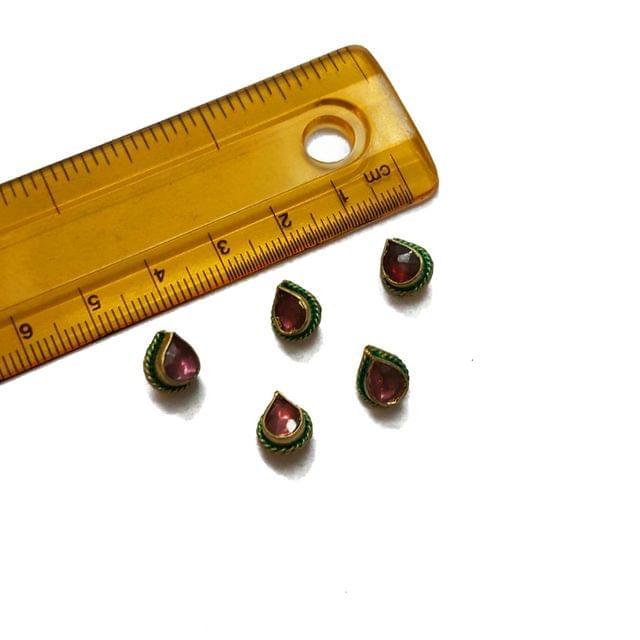 7x9mm, 5 pcs, Purple Stone Drop Beads