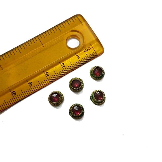 8mm, 5 pcs, Purple Stone Round Beads