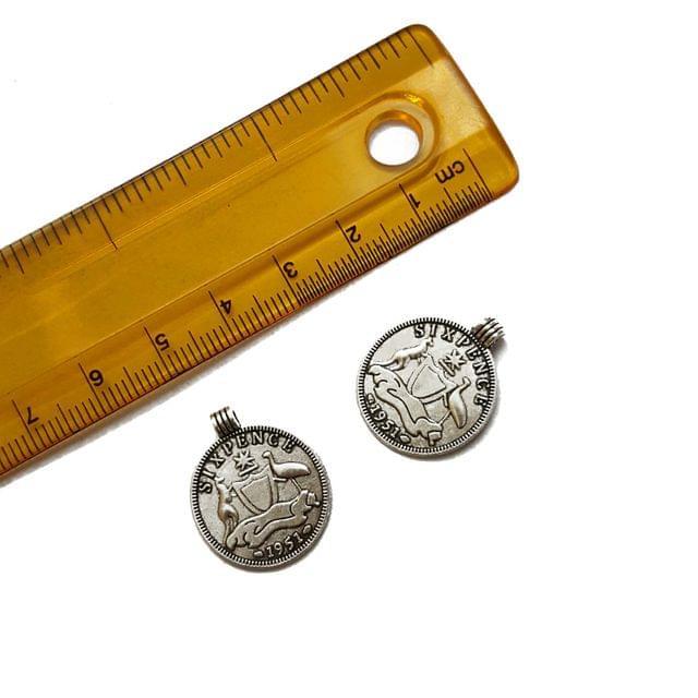 18x22mm, 10 pcs, German Silver Charms