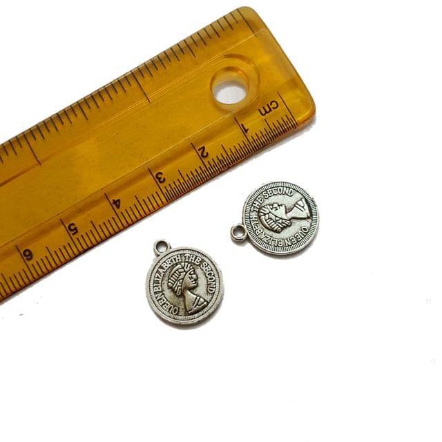 15x18mm, 10 pcs, German Silver Charms