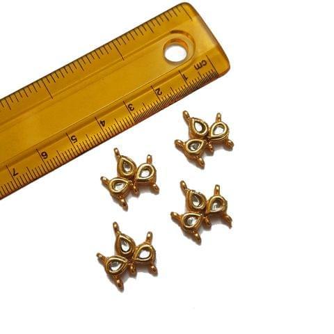 17x18mm, 4 pcs, Kundan Spacers
