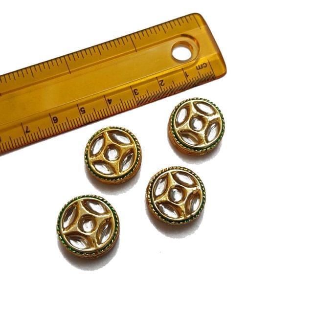 20mm, 4 pcs, Kundan Spacers