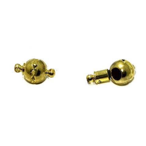 Golden 5 Pcs Insert Lock Magnetic Clasps , Size 10mm