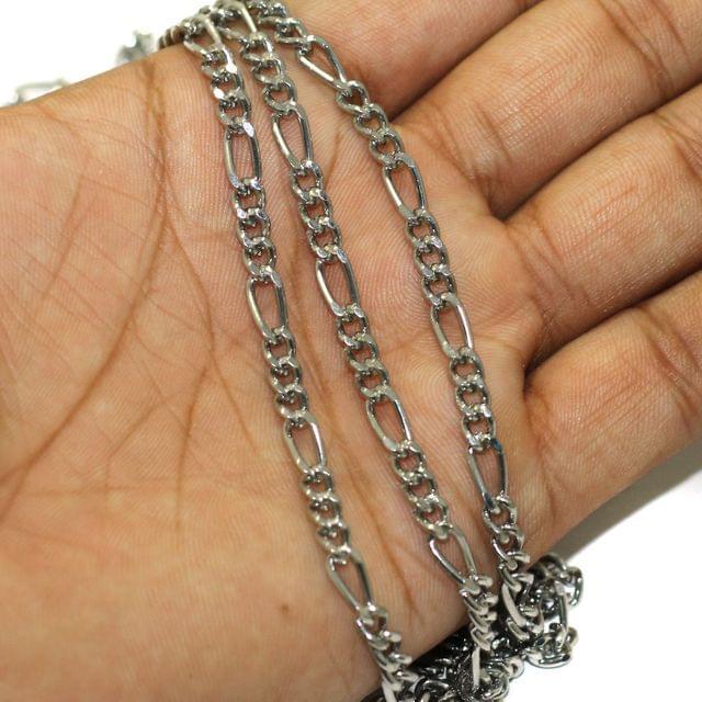 1 Mtr Black Nickel Metal Chain, Link Size 10x4mm