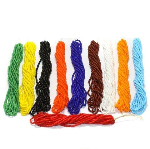 10 Bunch of Preciosa Seed Bead Strings 11/0 Opaque Combo Multicolor