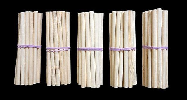 White Wooden Crafts Sticks Round 8cm Pack of 5 x 100 Pcs