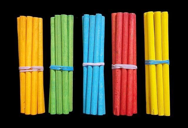 Multicolor Wooden Crafts Sticks Round 8cm Pack of 10 x 50 Pcs