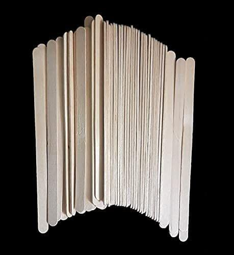 Plain Wooden Sticks, 17cm x 1cm Pack of 12 x 50 Sticks ,  600 Pcs.