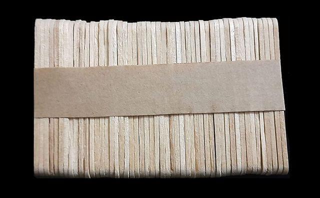 Plain Wooden Sticks Small 5.5cm x 1.1cm Pack of 12 x 50 Sticks ,  600 Pcs.