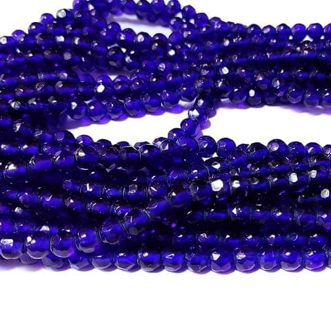 Blue 5 Stings Hand Made Spherical Crystal Beads 6mm
