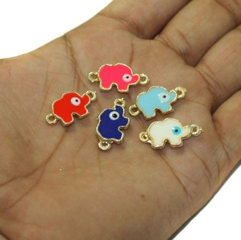 5 Pcs Evil Eye Butterfly Connectors Charms Assorted Color 15x11mm