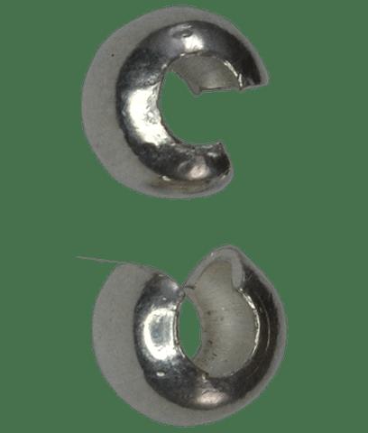 92.5 Sterling Silver 4mm Crimp Cover Golden