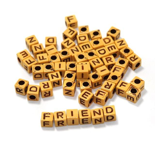 10 Sets FRIEND Acrylic Alphabet Beads 6mm