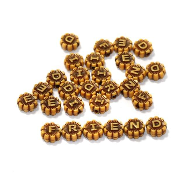 10 Sets FRIEND Acrylic Alphabet Beads 9mm