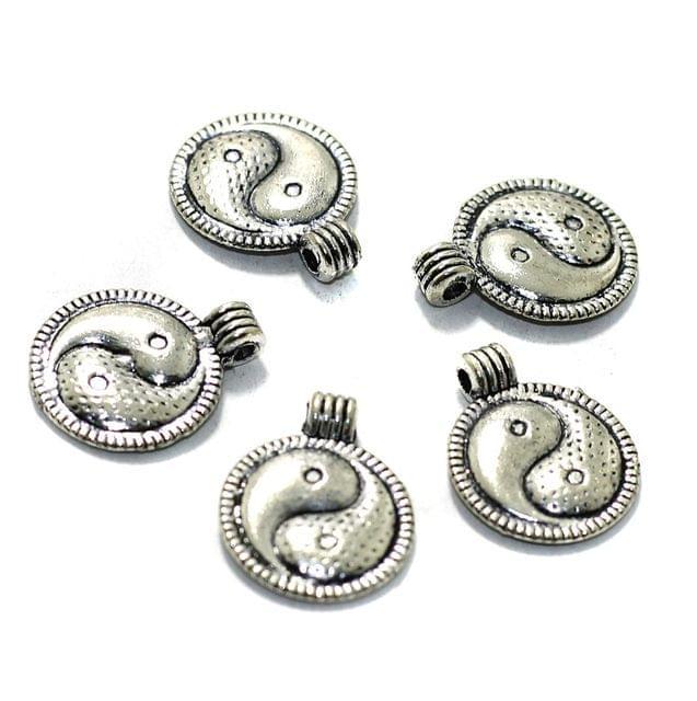 10 Pcs German Silver Charms 14mm