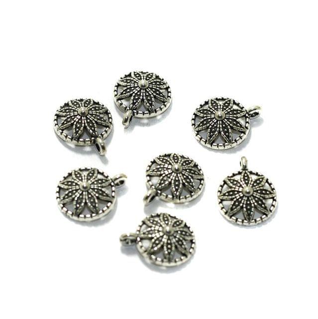 10 Pcs German Silver Charms  12mm