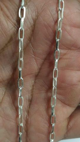 Sterling Silver Paper Clip Chain � 40 cms
