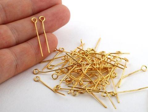 500 Pcs Metal Golden Eye Pins 30mm