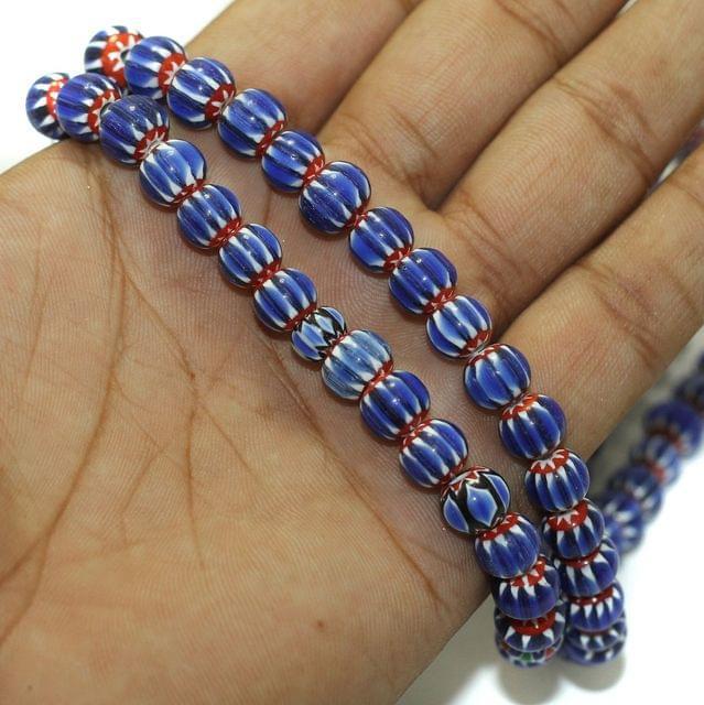 Chevron Designer Round Beads, Pack Of 2 String