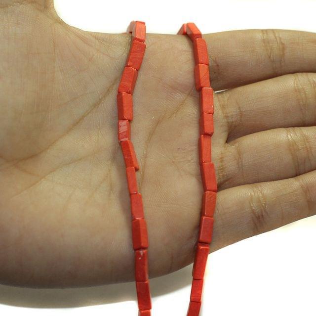 2 Strings Semiprecious Howlite Beads 8x3mm