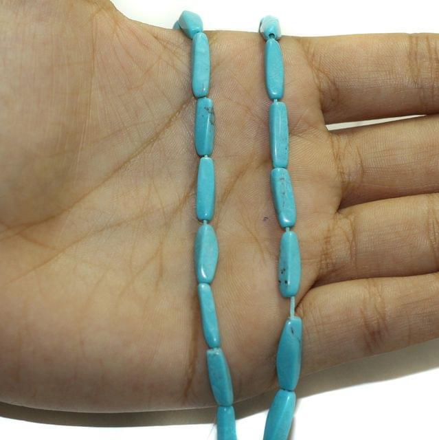 2 Strings Semiprecious Howlite Beads 13x4mm