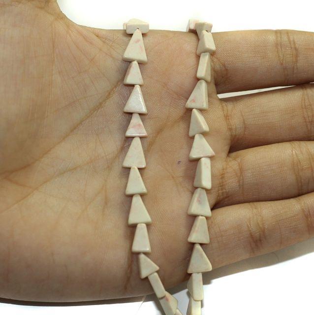 2 Strings Semiprecious Howlite Beads 7x6mm