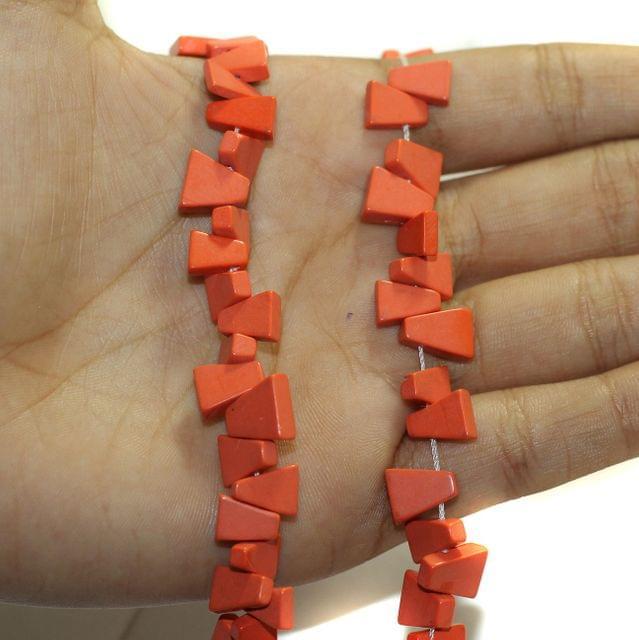 2 Strings Semiprecious Howlite Beads 8x6mm