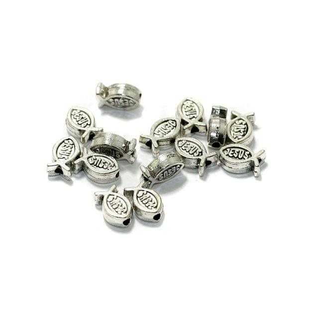 50 Pcs German Silver Spacer Beads 7x5mm