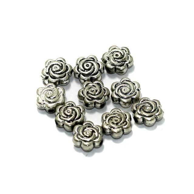 50 Pcs German Silver Spacer Beads 7mm