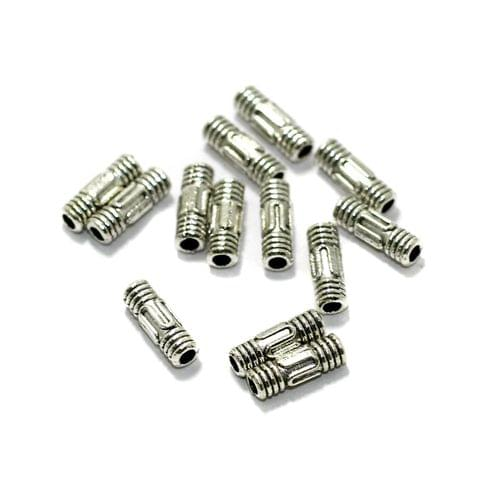 50 Pcs German Silver Spacer Beads 9x3mm
