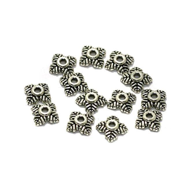 200 Pcs German Silver Beads Caps 5mm