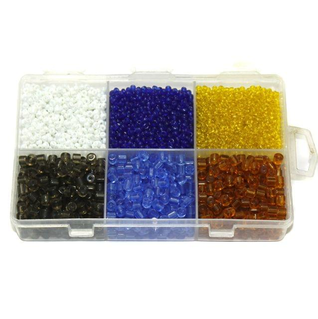 Glass Tyre and Seed Beads DIY Kit for Jewellery Making, Beading, Embroidery and Art and Crafts