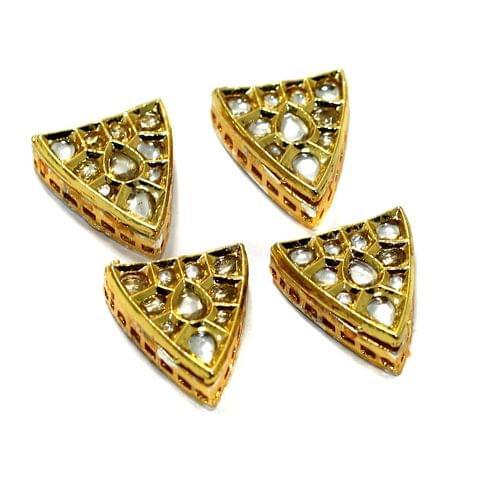 4 Pcs Kundan Spacer Beads 21x19mm
