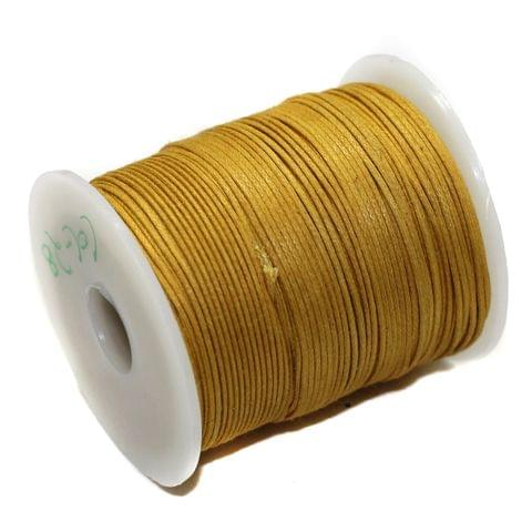 100 Mtrs Jewellery Making Cotton Cord Golden 1mm