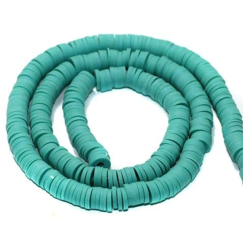 Turquoise Polymer Clay Fimo Ring Beads 1 String, 6mm