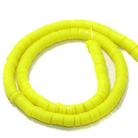 Lemon Polymer Clay Fimo Ring Beads 1 String, 6mm