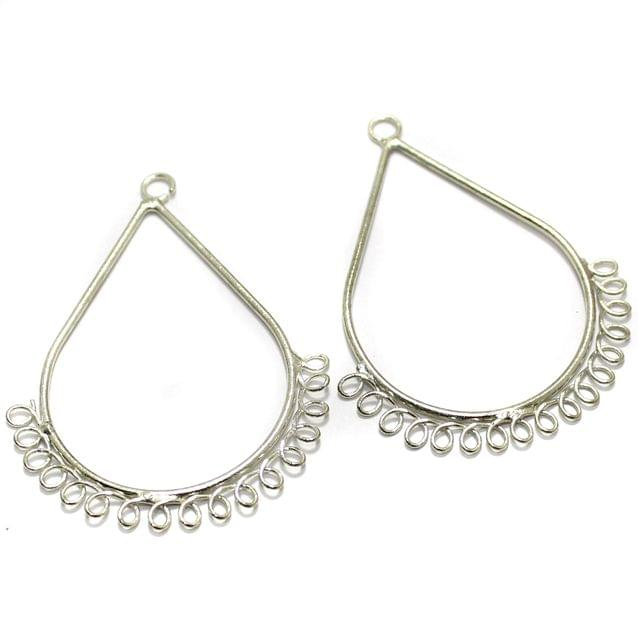 2 Pairs Brass Earrings Components Drop 2 Inch