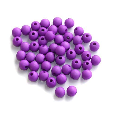 200 Acrylic Round Beads Purple 5mm