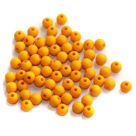 200 Acrylic Round Beads Orange 5mm