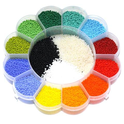 15 Colors Opaque Preciosa Seed Beads Kit, Size 11/0