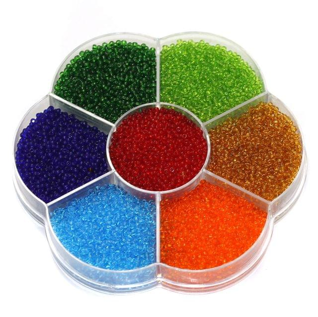 7 Colors Trans Preciosa Seed Beads Kit, Size 11/0