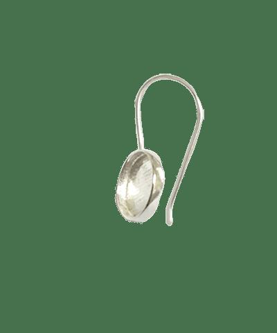 Sterling Silver Setting Earhook 6mm