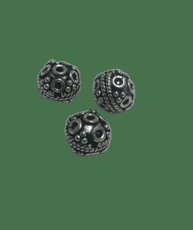 Sterling Silver 8mm Bali Bead